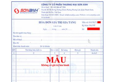 Thông báo phát hành mẫu Hóa đơn VAT 2015